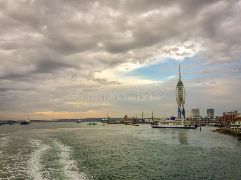Ferry, Portsmouth Harbour, United Kingdom royalty free stock images