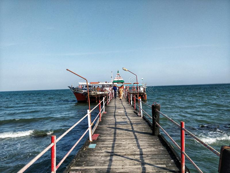 Ferry Ride in Bay of Bengal royalty free stock images