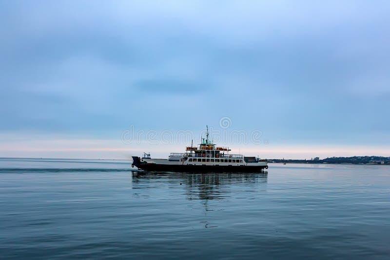 Ferry in Sevastopol Bay stock images