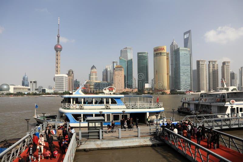 Ferry in Shanghai, China stock photo