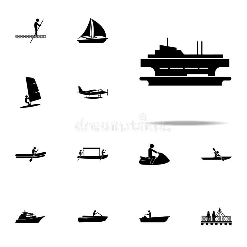 Ferry, ship icon. water transportation icons universal set for web and mobile. On white background royalty free illustration