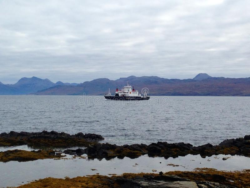 Ferry from Skye stock photo