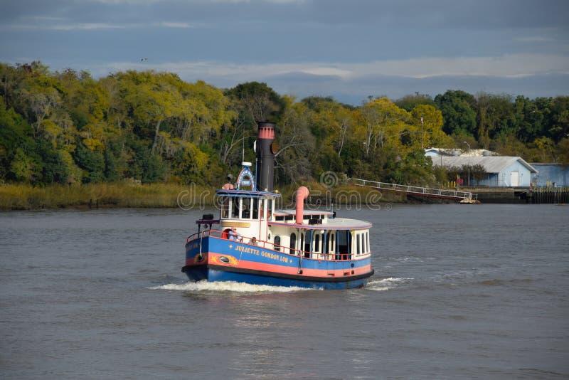 Ferry sur Savannah River photographie stock libre de droits