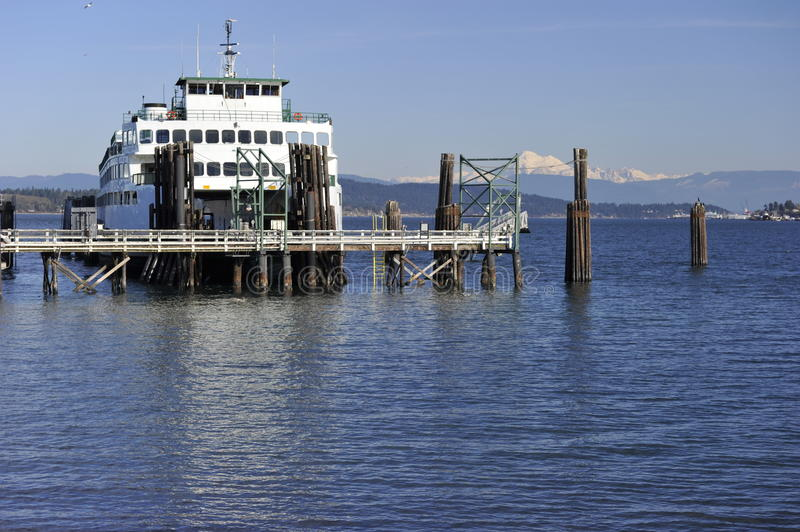 Ferry At The Terminal Royalty Free Stock Photography