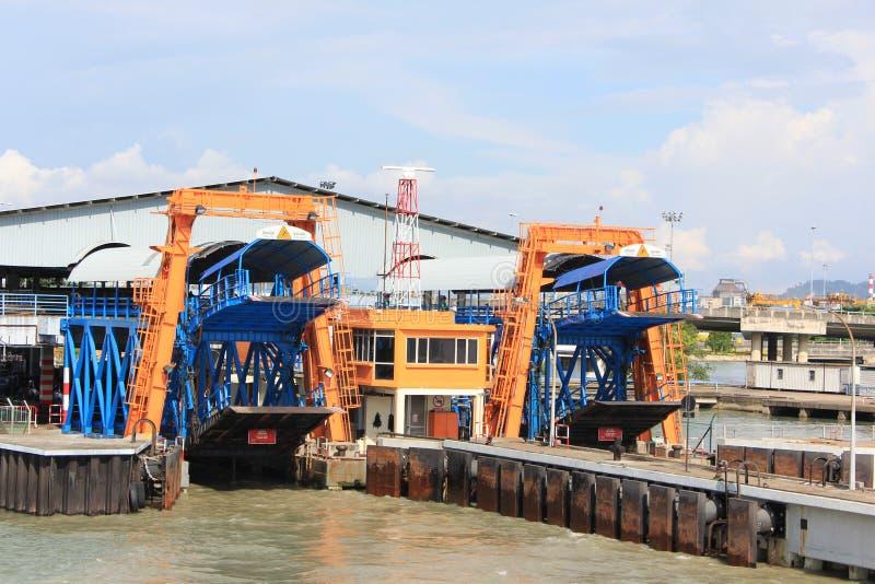 Ferry terminal Penang stock photo