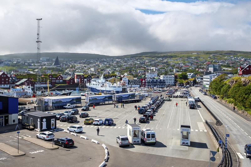 Ferry terminal of the Port of Torshavn royalty free stock photo