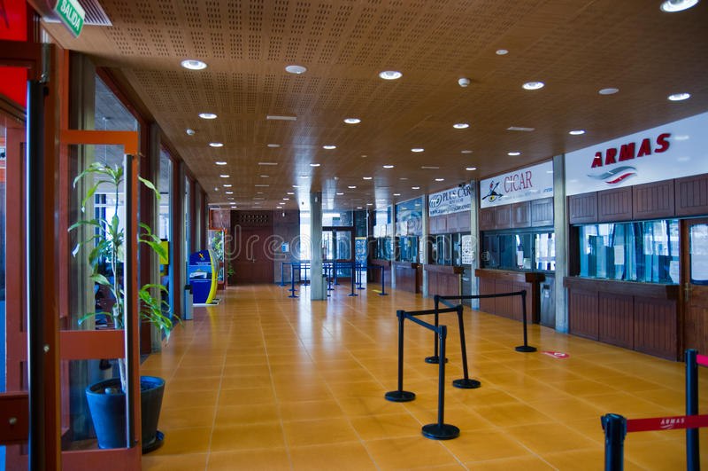Ferry terminal in San Sebastian de La Gomera, Canary, Spain royalty free stock photos