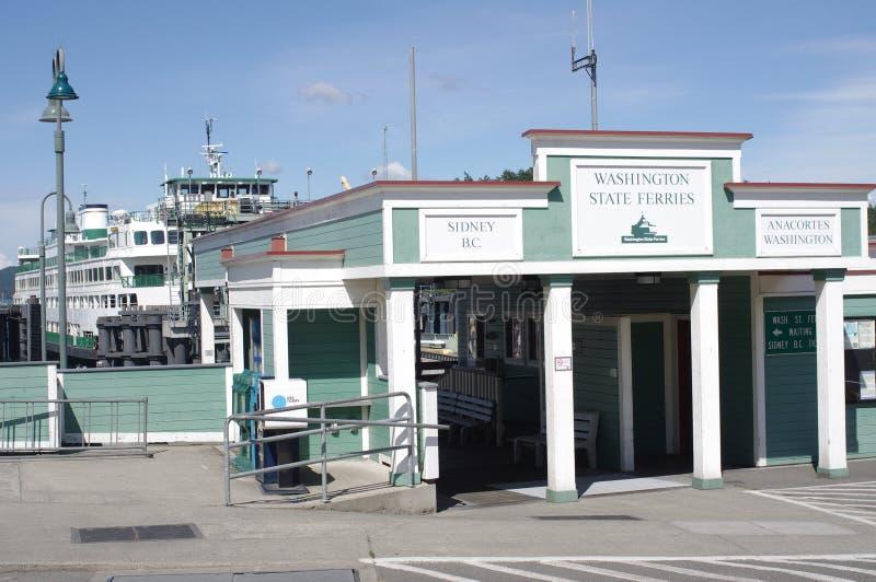 Ferry terminal of Washington State Ferries at Friday Harbor. On San Juan island in Washington state royalty free stock image