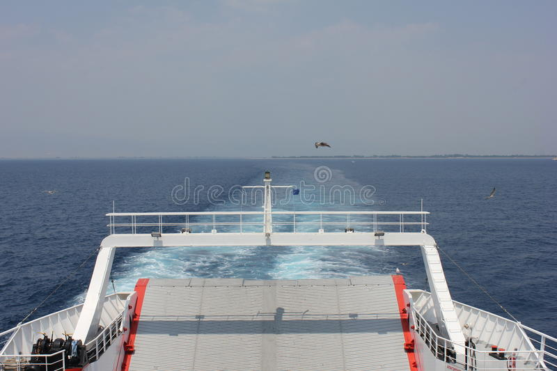 Ferry to Thassos royalty free stock photography