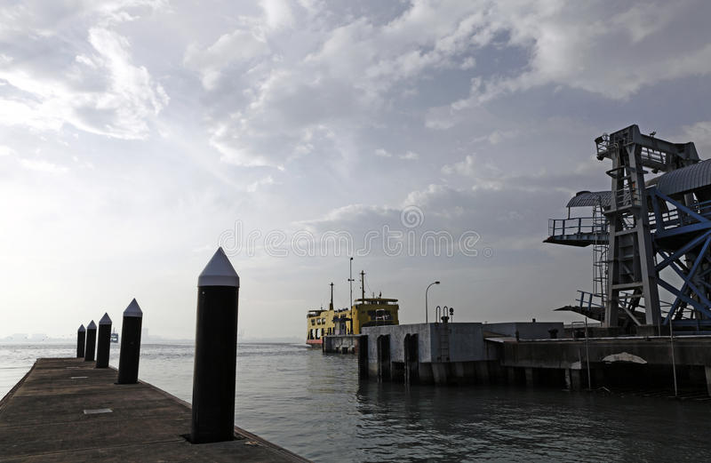 Ferry transport. stock images
