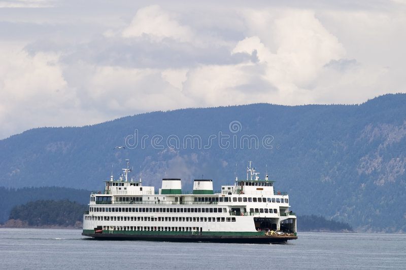 Ferryboat do console fotografia de stock
