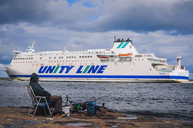 Ferryboat em Swinoujscie imagem de stock royalty free