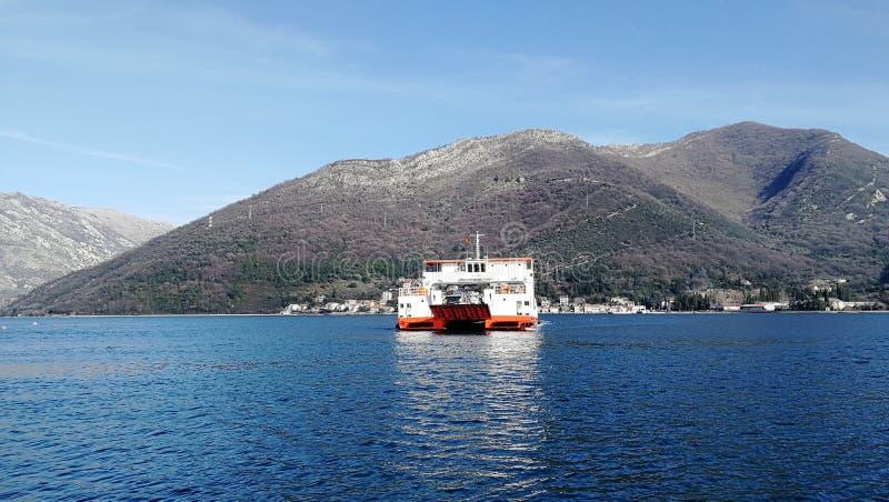 Ferryboat of Kotor in Montenegro royalty free stock image