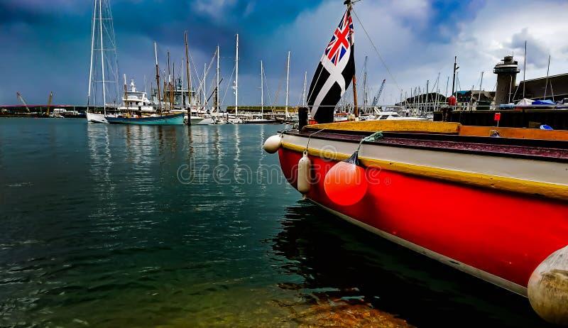 Ferryboat seascape obrazy royalty free