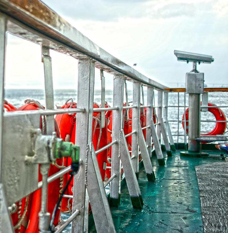 Ferryboat telescope Marmara Waters Istanbul Turkey stock photos