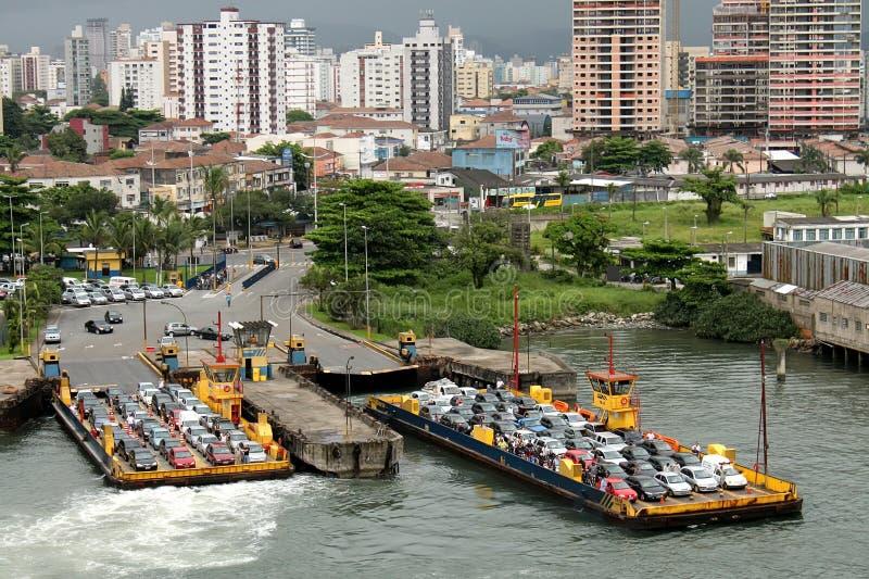 Ferryboat visto de acima imagens de stock royalty free