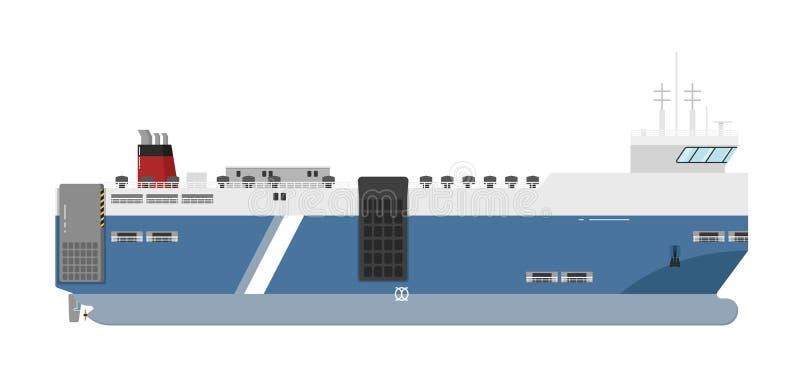 Ferryboat on white background royalty free illustration