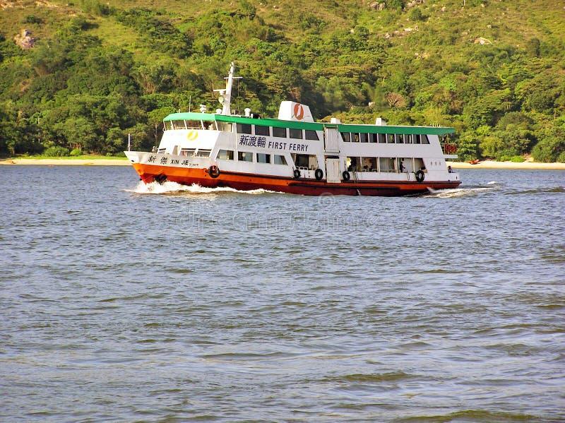 Ferryboat XIN JIE firma Nowy świat Najpierw Przewozi zdjęcia royalty free