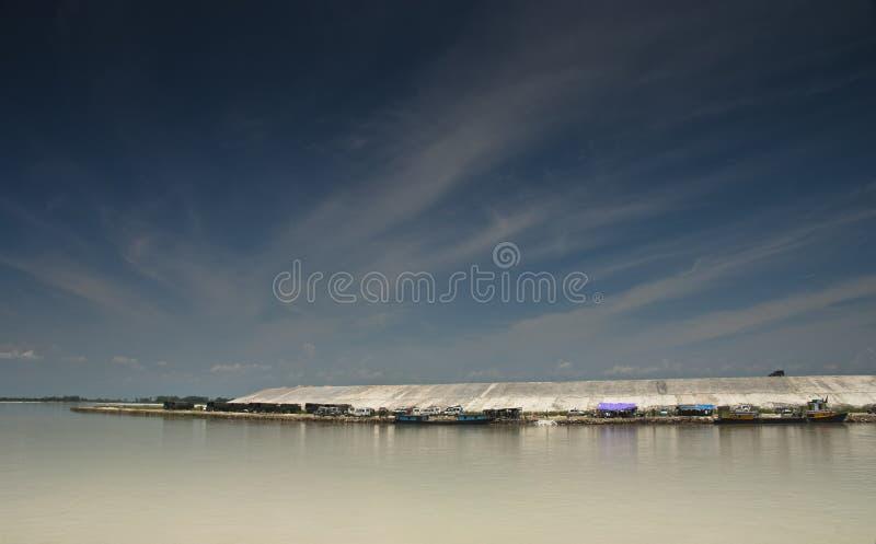 Ferryboats em Sadiya Ghat, Tinsukia, Assam fotografia de stock royalty free