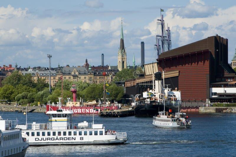 Ferrys e Wasamuseum foto de stock