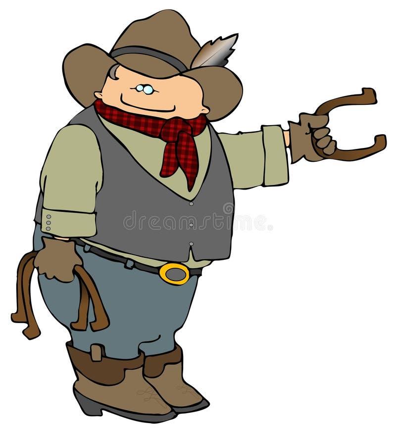 Fers à cheval de cowboy illustration stock