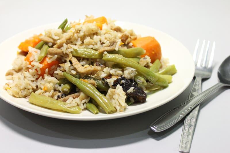 Fertanie Smażący chińczyk Smażący Rice fotografia stock