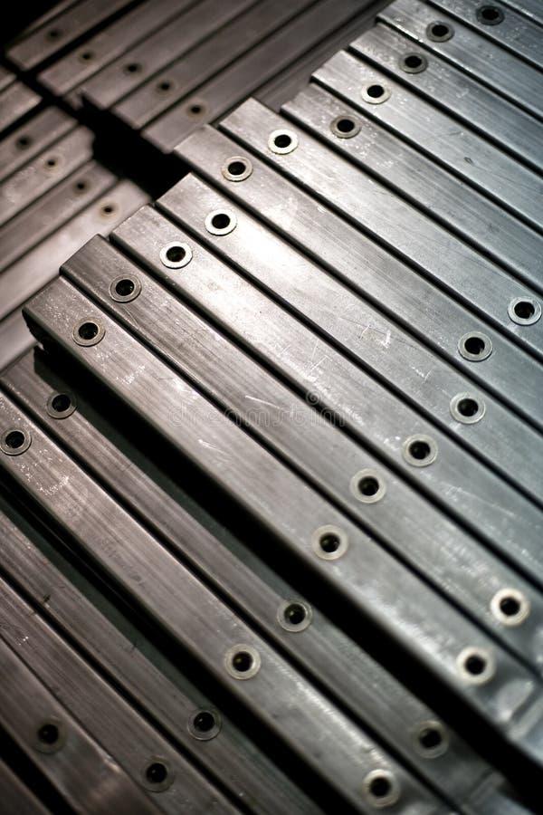 Fertige Metallstäbe lizenzfreies stockbild