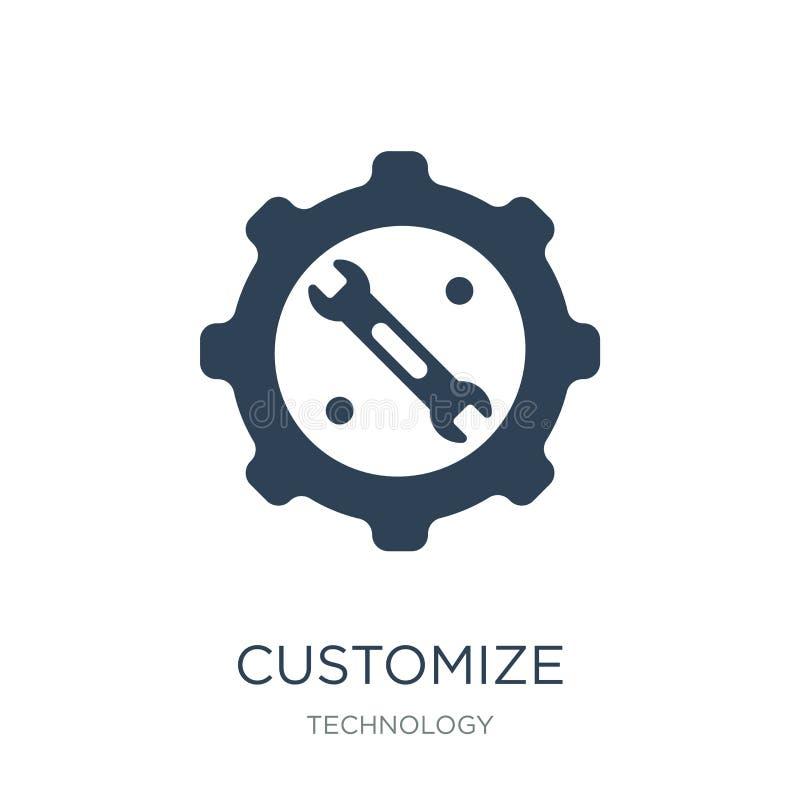 fertigen Sie Ikone in der modischen Entwurfsart besonders an fertigen Sie die Ikone besonders an, die auf weißem Hintergrund loka lizenzfreie abbildung