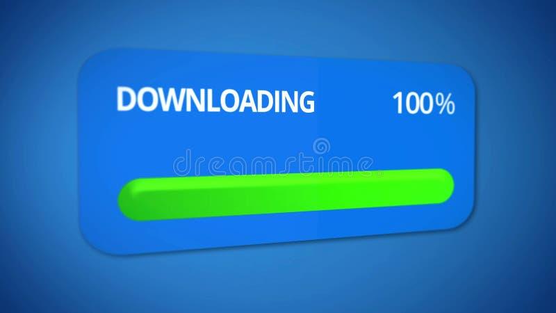 Fertiges Downloading, erfolgreiches Getriebe von Informationen, schnelles Internet lizenzfreie abbildung