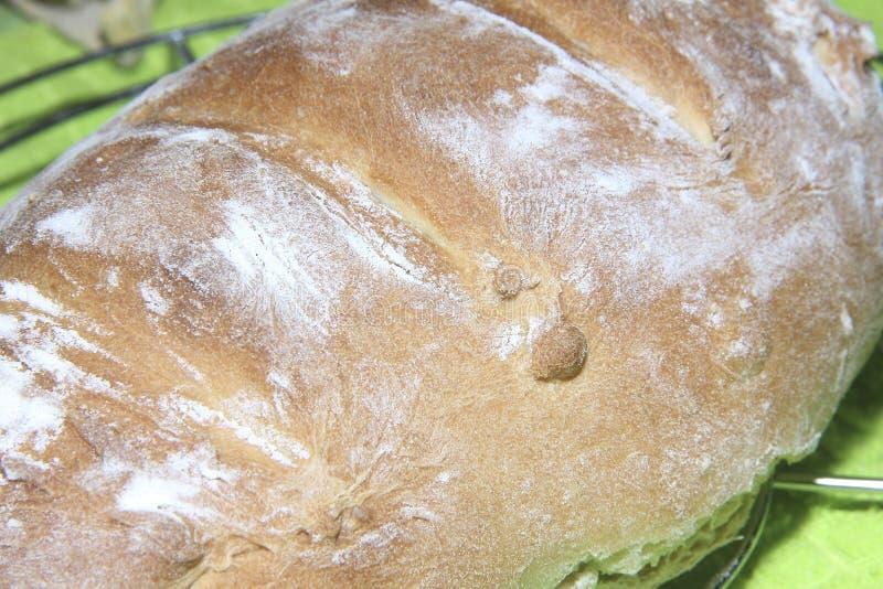 Fertiggerichte hausgemachtes Brot mit knackiger Weizenkruste lizenzfreies stockfoto