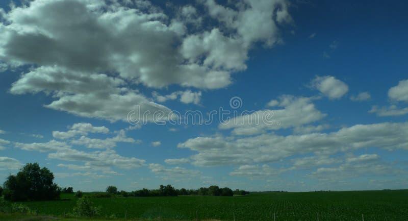 Fertil jordbruksmark, idealt landskap för landsbygd fotografering för bildbyråer