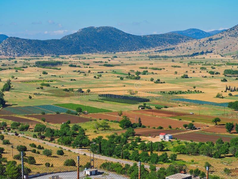 Fertil jordbruksmark, Peloponnese, Grekland fotografering för bildbyråer