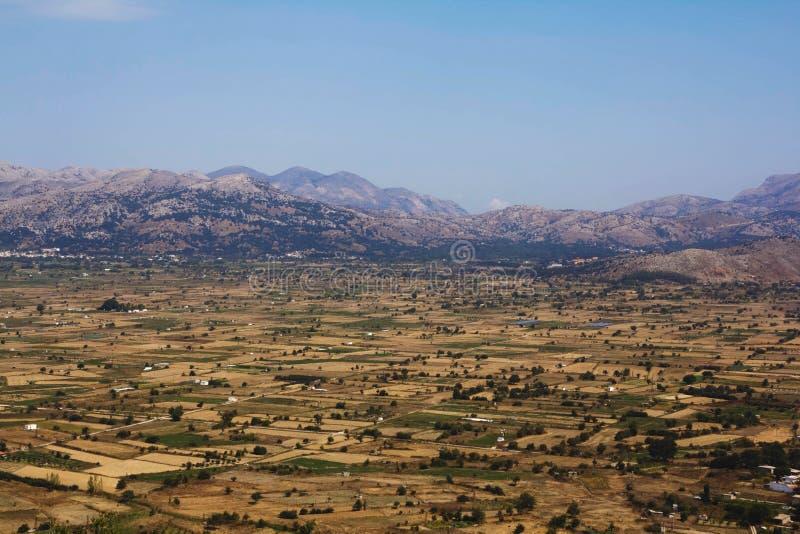 A Fertile lassithi Plateau in a mountain Crete. A Fertile lassithi Plateau in a Mountain Region Crete royalty free stock photography