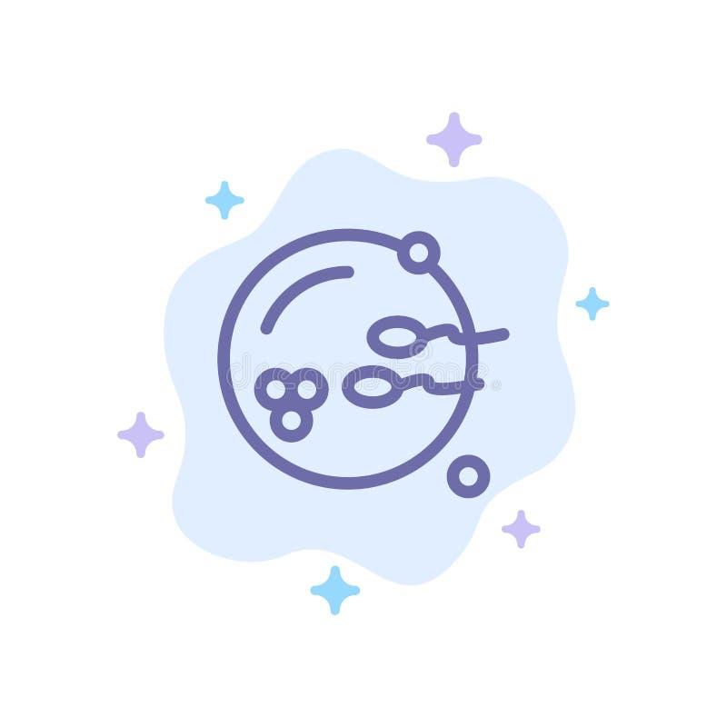 Fertile, procréation, reproduction, icône bleue de sexe sur le fond abstrait de nuage illustration stock