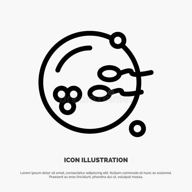 Fertile, procréation, reproduction, ligne vecteur de sexe d'icône illustration libre de droits