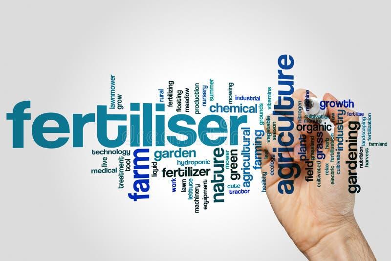 Fertiliser word cloud concept on grey background stock images