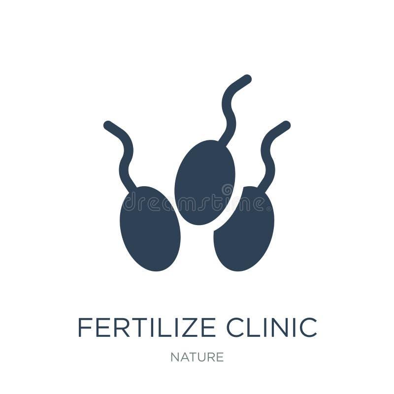 fertilize o ícone da clínica no estilo na moda do projeto fertilize o ícone da clínica isolado no fundo branco fertilize o ícone  ilustração stock
