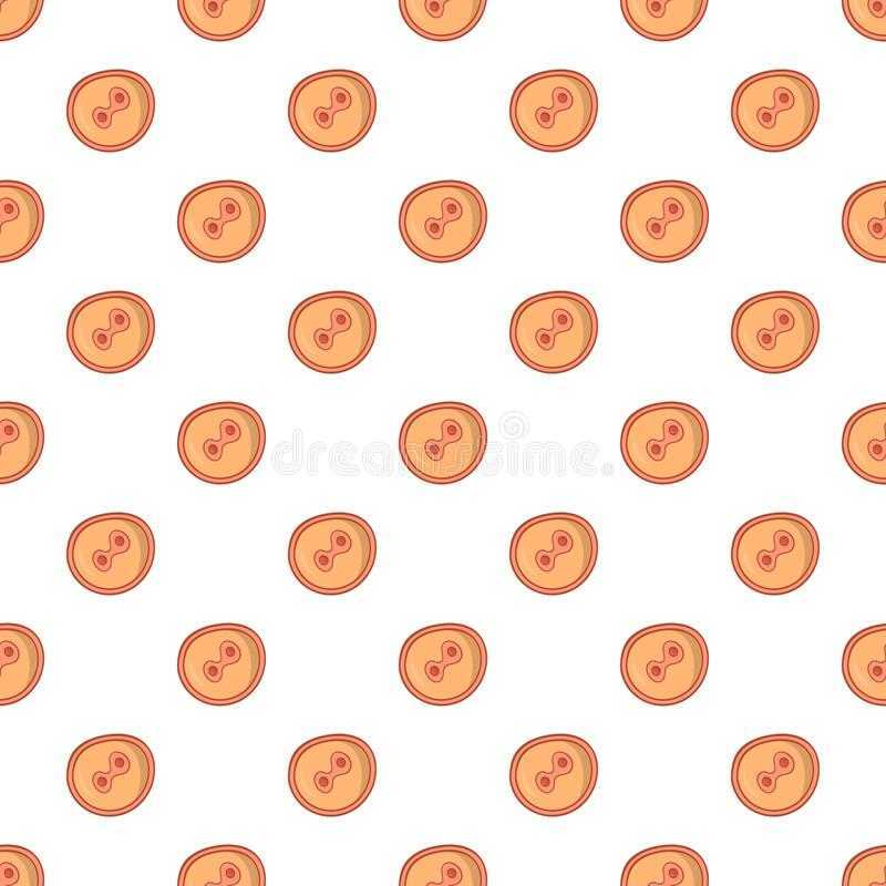 Fertilized egg pattern, cartoon style. Fertilized egg pattern. Cartoon illustration of fertilized egg vector pattern for web royalty free illustration