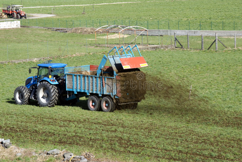 Fertilizing The Fields Royalty Free Stock Photography