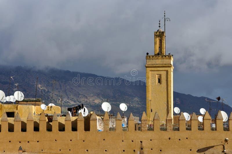 fes摩洛哥清真寺 免版税库存图片