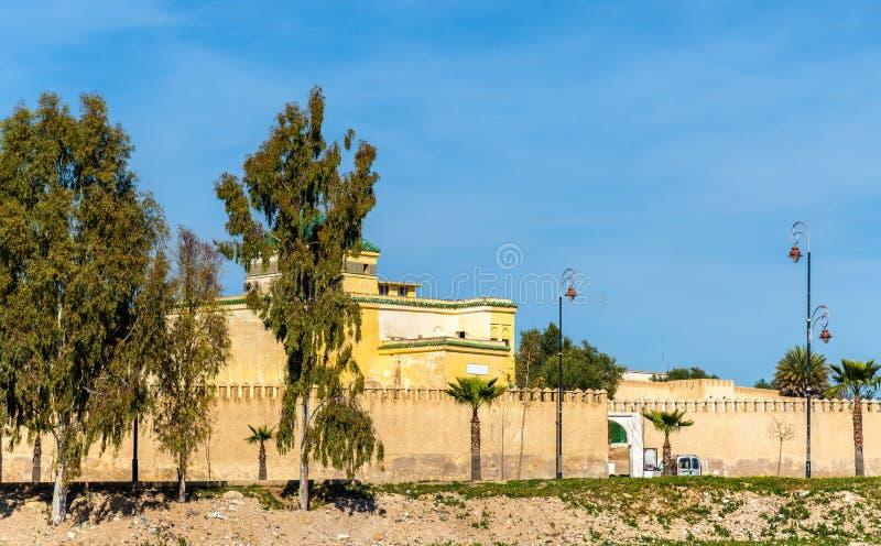 Fes,摩洛哥老城市墙壁  库存图片