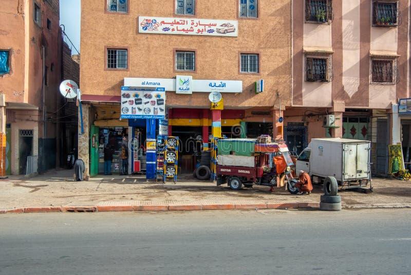 Fes, Μαρόκο - 29 Απριλίου 2019: Μηχανικό εργαστήριο στοκ φωτογραφίες