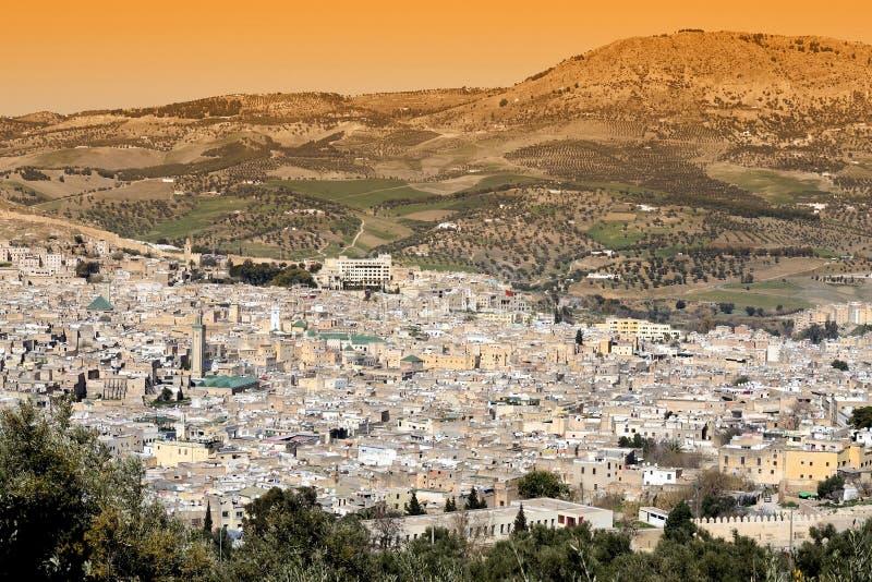Fes Marocko arkivbilder