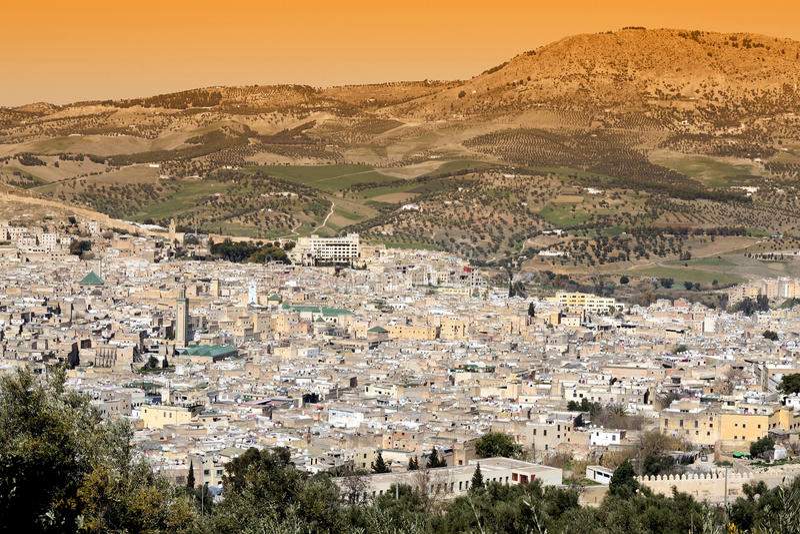 Fes, Maroko obrazy stock