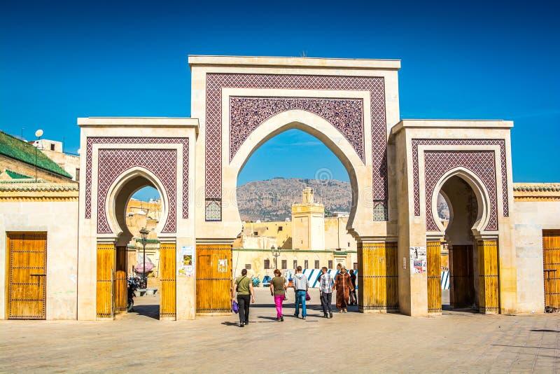 Fes, Marrocos - 17 de outubro de 2013 Medina velho durante o festival de Eid al Adha fotografia de stock royalty free