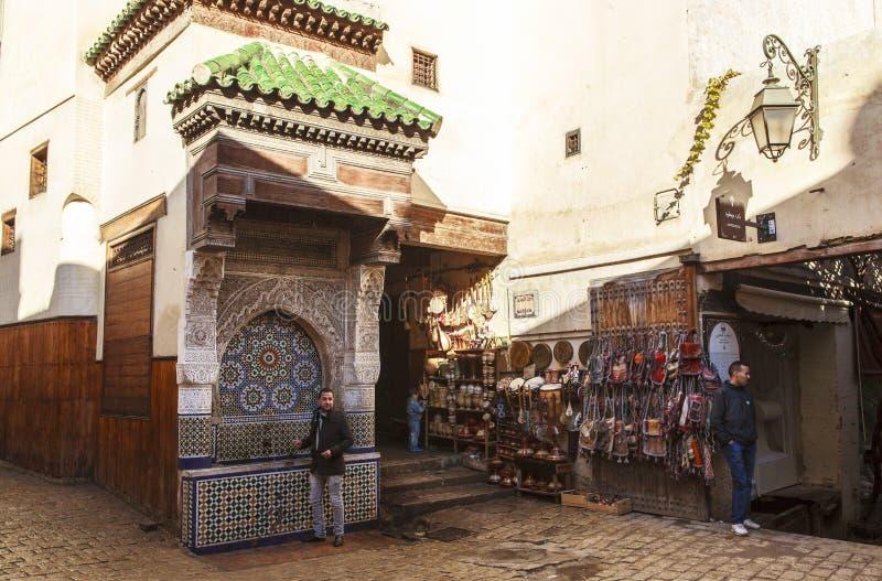 fes medina摩洛哥 免版税图库摄影