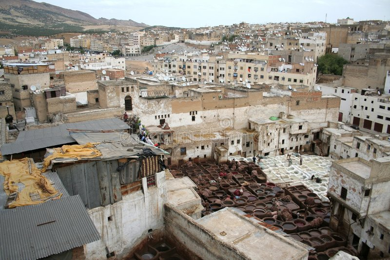 Fes tanneries #4 stock image
