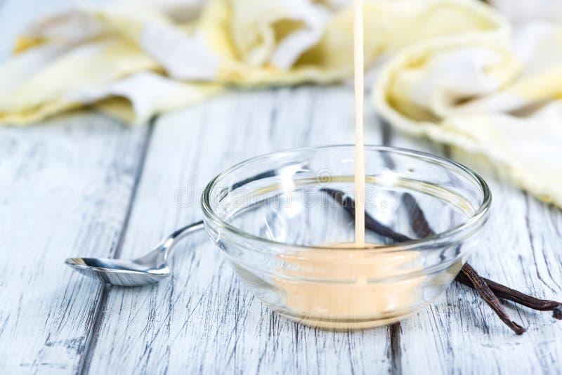 Fesh сделало ванильный соус стоковые изображения
