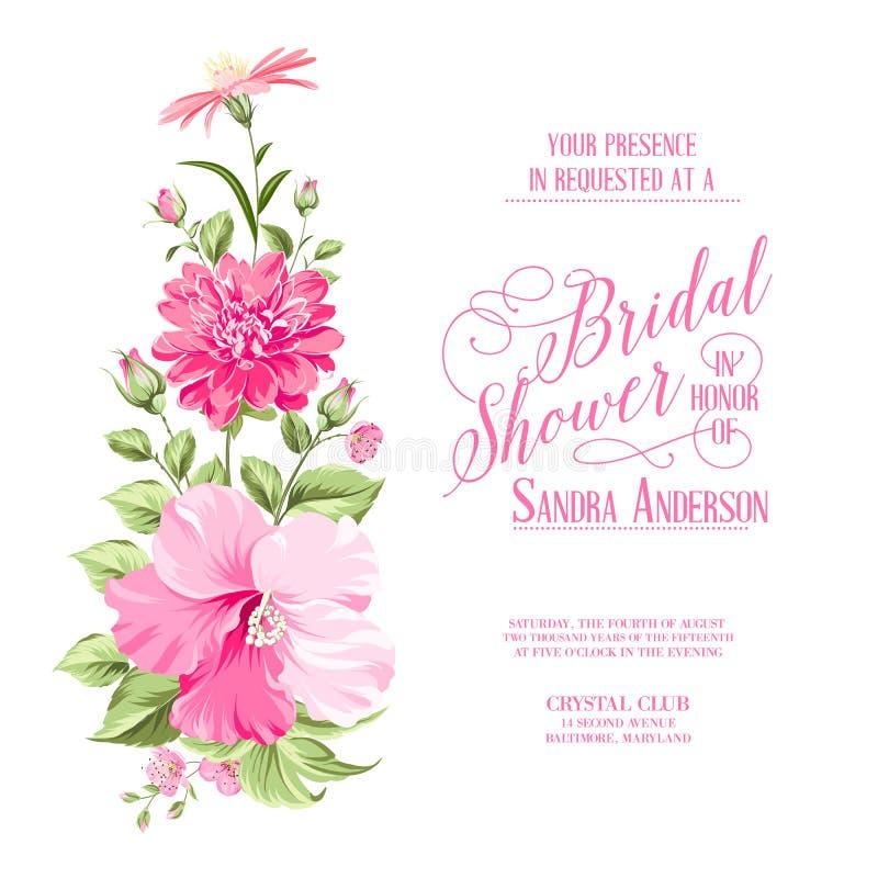 Festão da flor para o cartão do convite ilustração royalty free