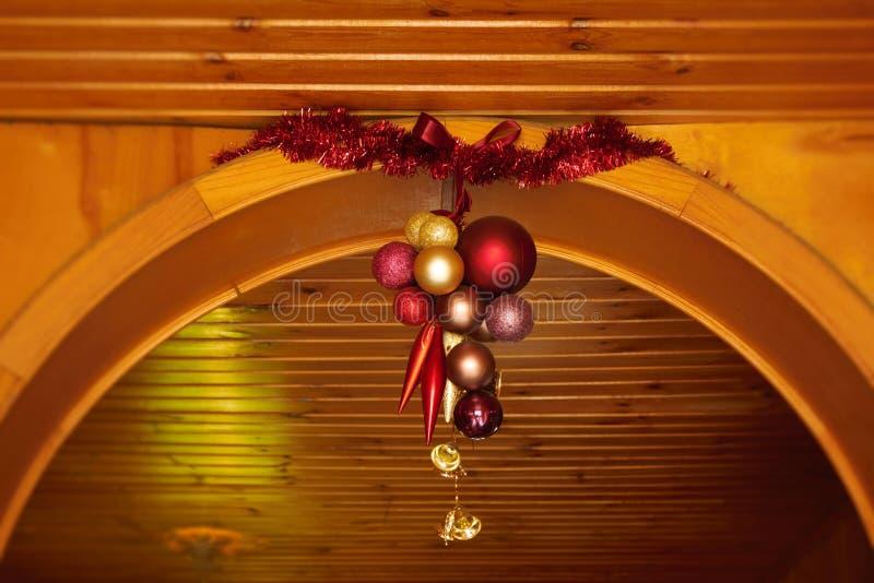 Festão das decorações do Natal fotografia de stock royalty free